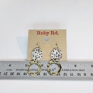 Ruby Rd. Jewelry - 💢3 for $25💢 Ruby Rd 2 Tone Hammered Earrings